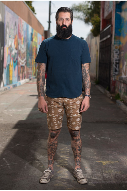 3sixteen for SEMX Drawstring Chill-Out Shorts - Khaki