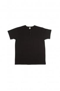 3sixteen Heavyweight Henley T-Shirt - Black - Image 0