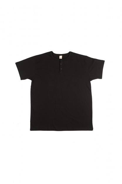 3sixteen Heavyweight Henley T-Shirt - Black