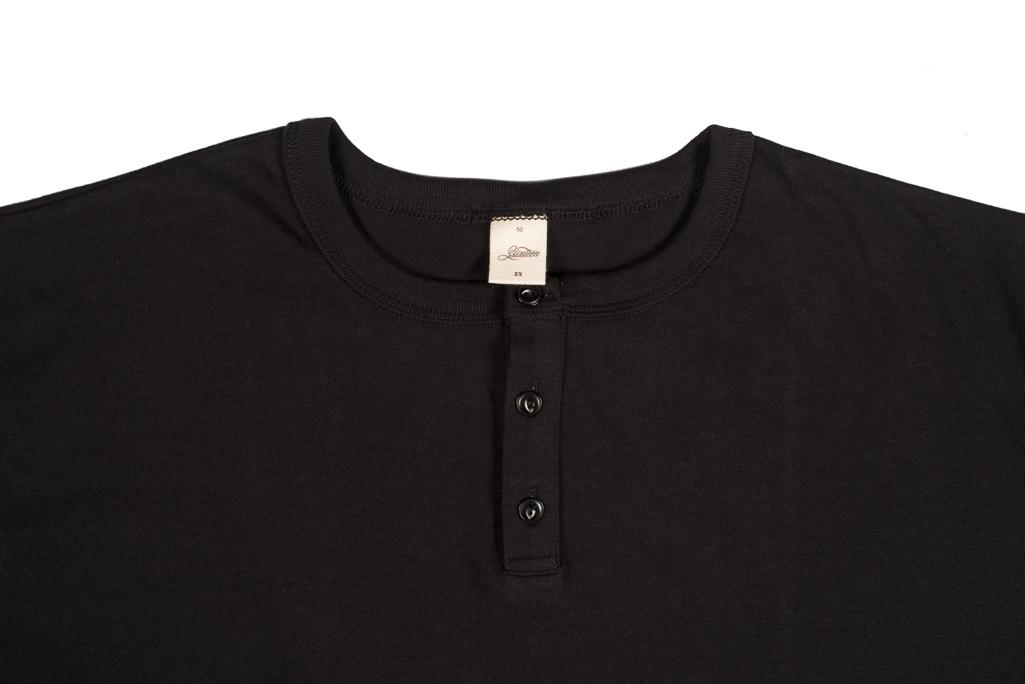 3sixteen Heavyweight Henley T-Shirt - Black - Image 1