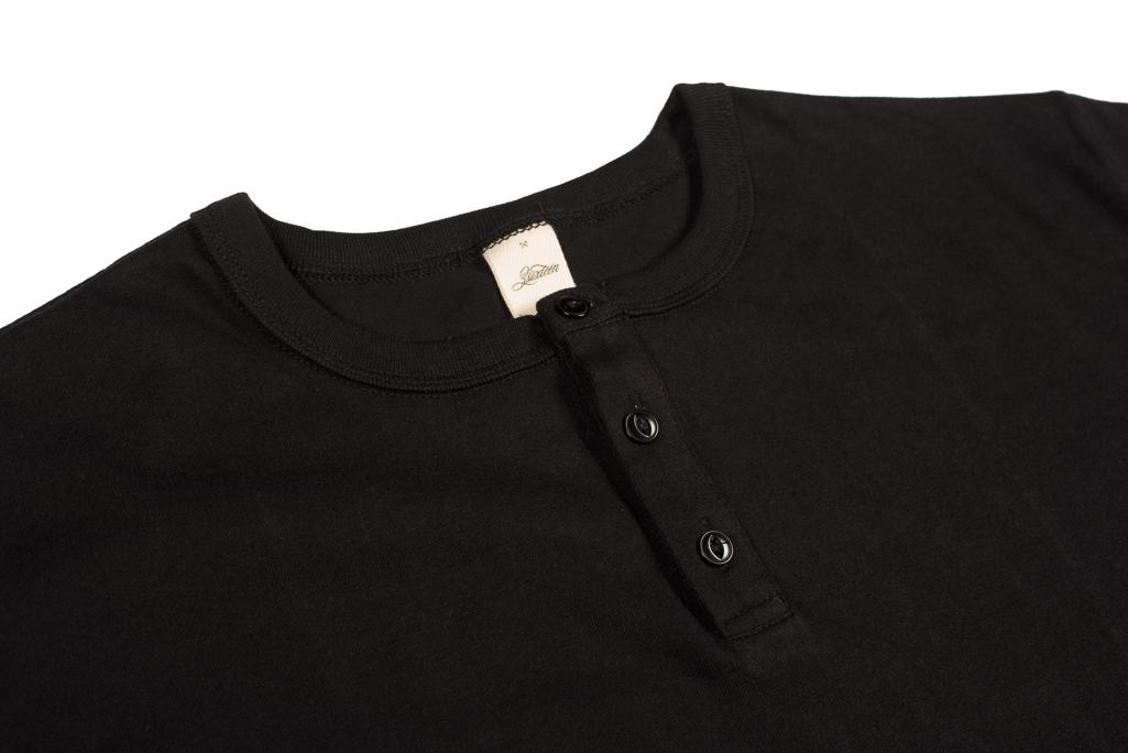 3sixteen Heavyweight Henley T-Shirt - Black - Image 2