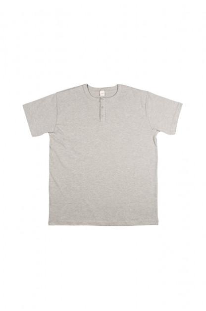 3sixteen Heavyweight Henley T-Shirt - Gray