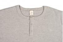 3sixteen Heavyweight Henley T-Shirt - Gray - Image 1