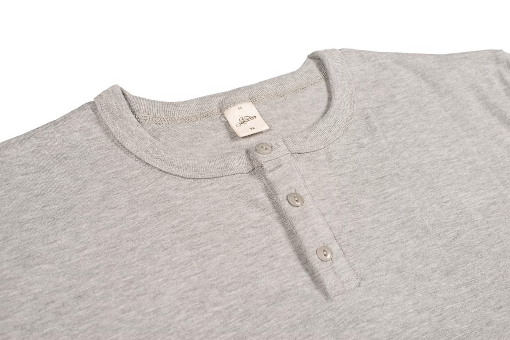 3sixteen Heavyweight Henley T-Shirt - Gray - Image 2