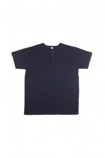 3sixteen Heavyweight Henley T-Shirt - Indigo-Dyed - Image 0