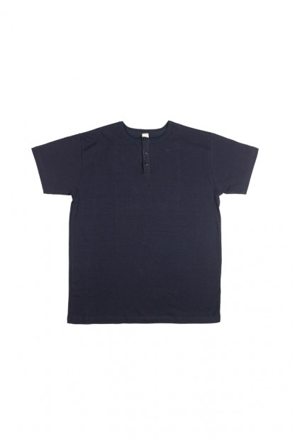 3sixteen Heavyweight Henley T-Shirt - Indigo-Dyed