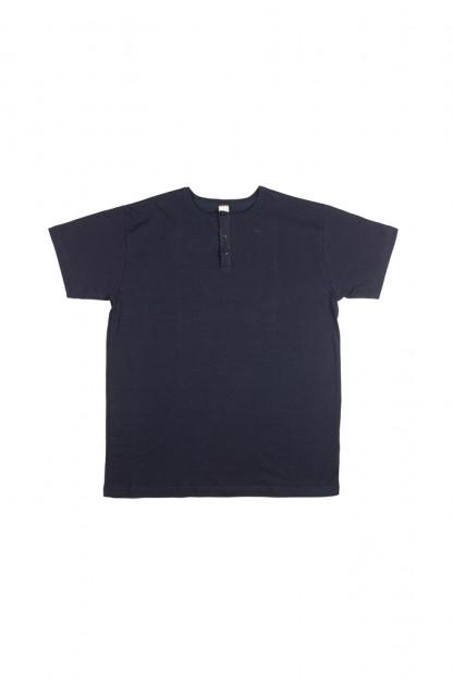 3sixteen Heavyweight Henley T-Shirt - Indigo-Dyed