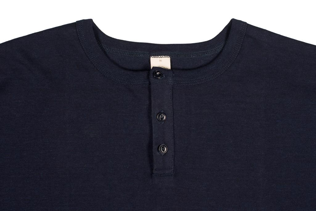 3sixteen Heavyweight Henley T-Shirt - Indigo-Dyed - Image 1