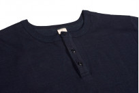 3sixteen Heavyweight Henley T-Shirt - Indigo-Dyed - Image 2