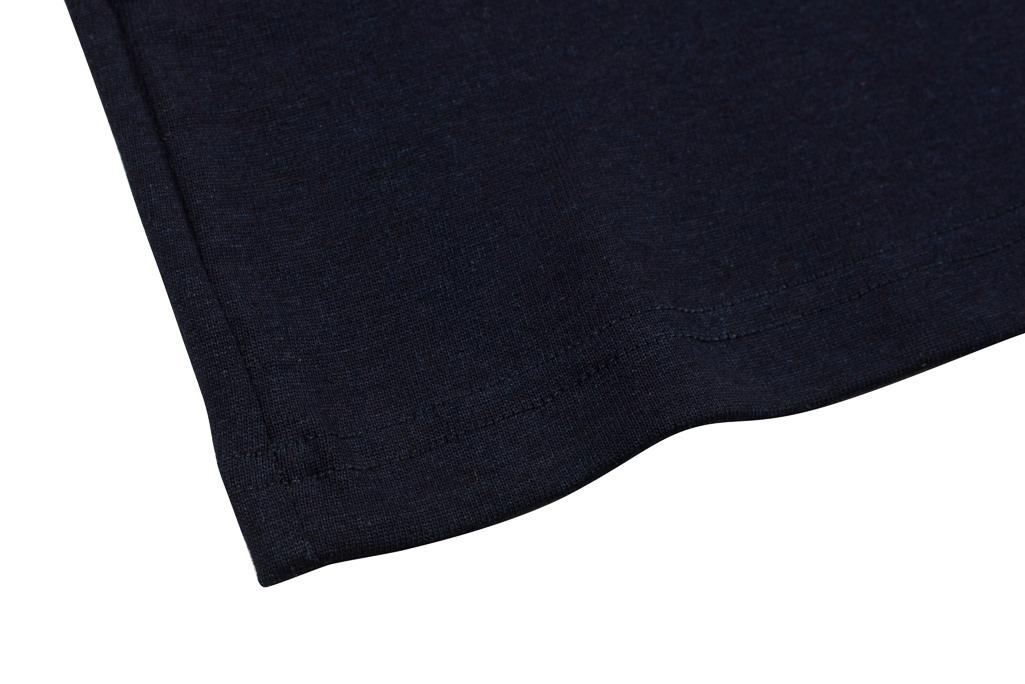 3sixteen Heavyweight Henley T-Shirt - Indigo-Dyed - Image 3