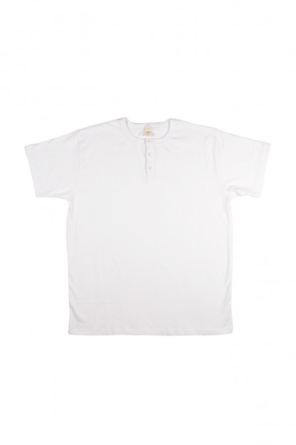 3sixteen Heavyweight Henley T-Shirt - White