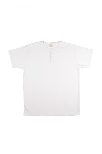 3sixteen Heavyweight Henley T-Shirt - White