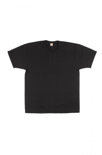 Flat Head Glory Park Loopwheeled Blank T-Shirt - Black