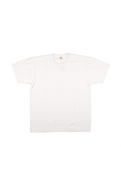 Flat Head Glory Park Loopwheeled Blank T-Shirt - White
