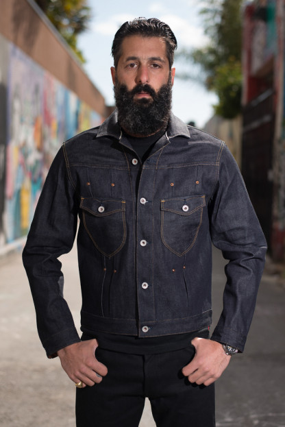 Stevenson Slinger Denim Jacket - 12oz Indigo Denim