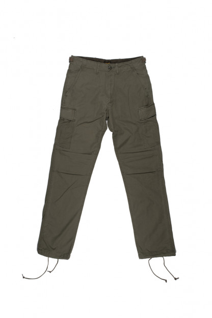 Stevenson Recon Fatigue Trousers - Olive Ripstop Poplin