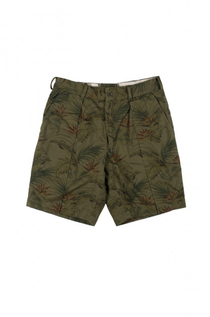 Stevenson Weekend Warrior Shorts - Olive Flower Party