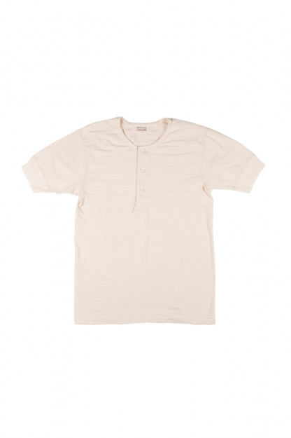 Stevenson Loopwheeled Short Sleeve - Henley Oatmeal