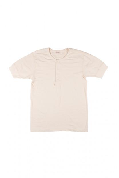 Stevenson Loopwheeled Short Sleeve - Henley Oatmeal