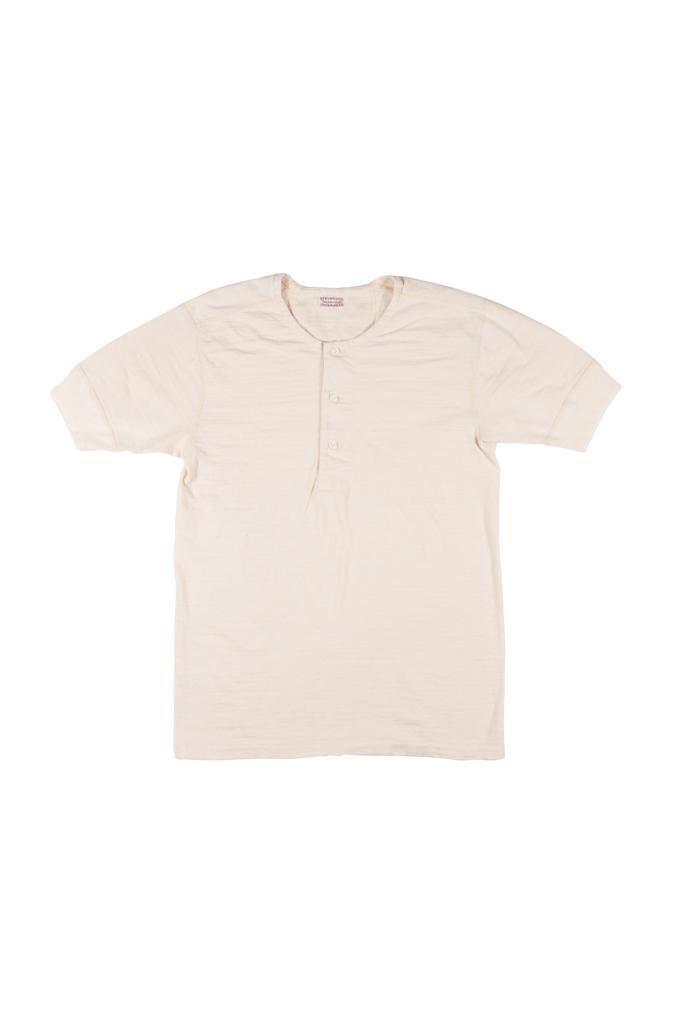 Stevenson Loopwheeled Short Sleeve - Henley Oatmeal - Image 0