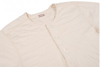 Stevenson Loopwheeled Short Sleeve - Henley Oatmeal - Image 2