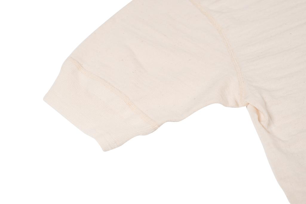 Stevenson Loopwheeled Short Sleeve - Henley Oatmeal - Image 3
