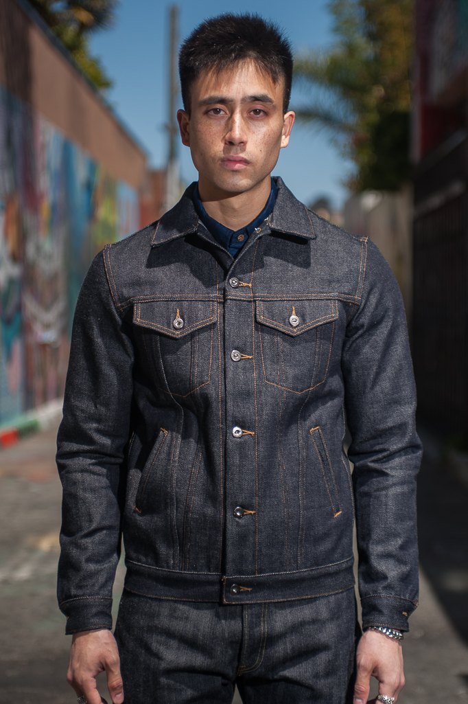 3sixteen+ 16.5oz Caustic Wave Denim - Type III Modified Jacket - Image 0