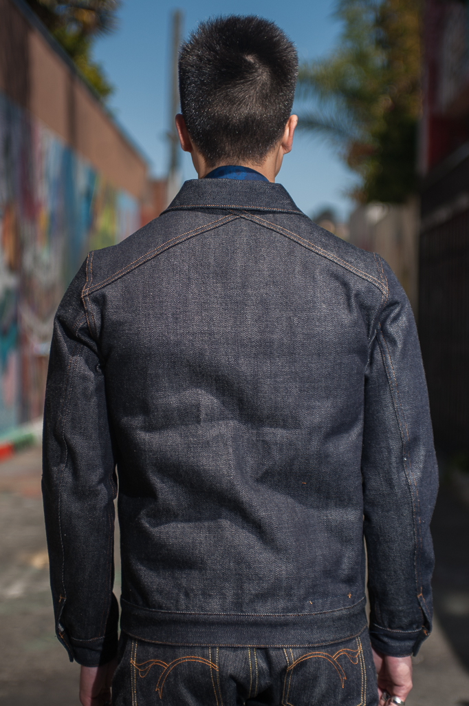 3sixteen+ 16.5oz Caustic Wave Denim - Type III Modified Jacket - Image 1