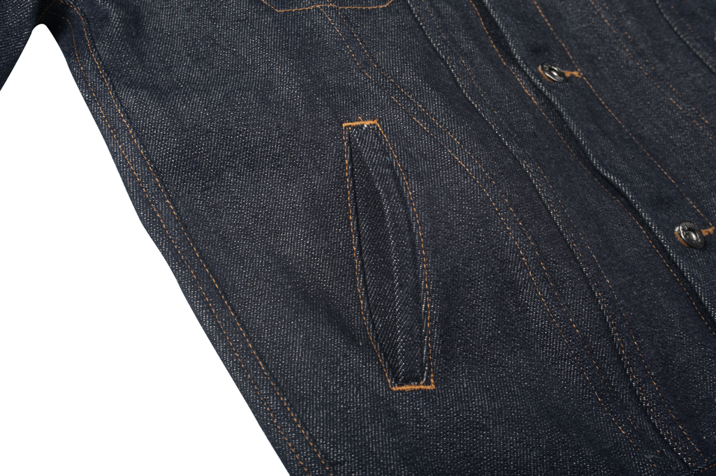 3sixteen+ 16.5oz Caustic Wave Denim - Type III Modified Jacket - Image 7
