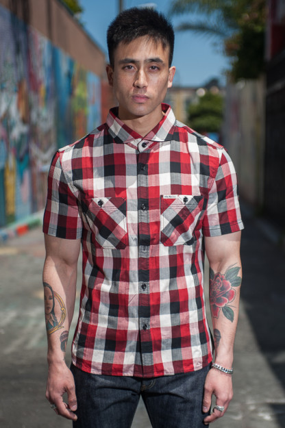 Flat Head Stamina Slurp Short Sleeve Shirt - Red