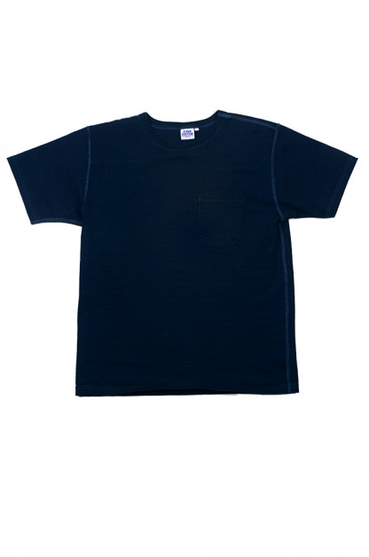 Studio D'Artisan Loopwheeled T-Shirt - Pure-Indigo Dyed