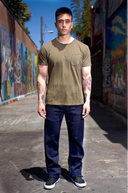 Studio D'Artisan Indigo-Dyed Sashiko Jeans