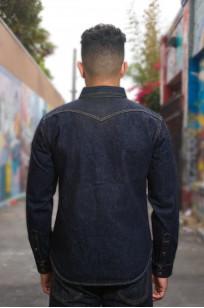 Iron Heart 18oz Denim CPO Shirt w/ Hand Pockets - Indigo - Image 1