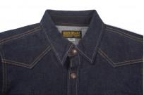 Iron Heart 18oz Denim CPO Shirt w/ Hand Pockets - Indigo - Image 3
