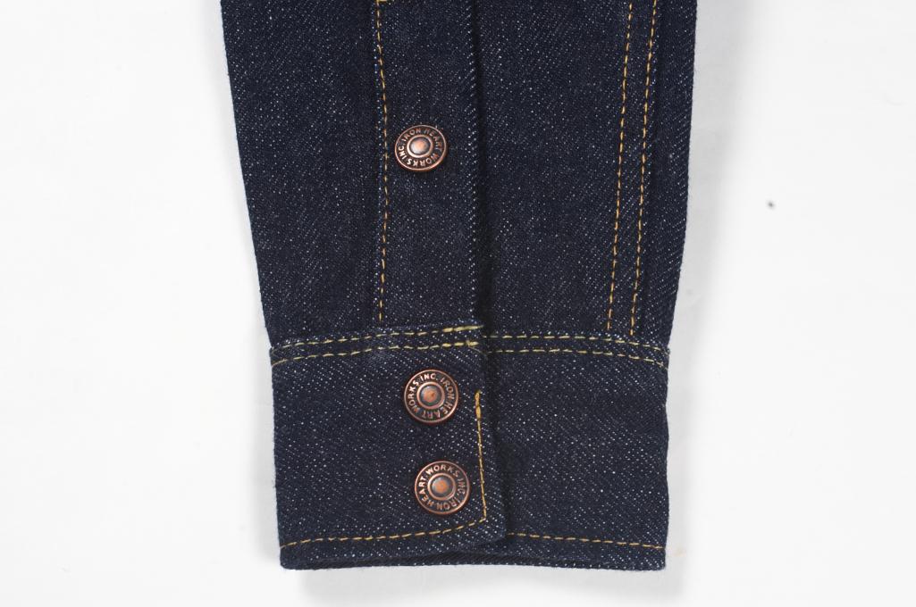 Iron Heart 18oz Denim CPO Shirt w/ Hand Pockets - Indigo - Image 8