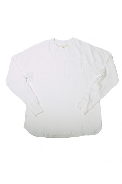 Lady White Raglan Thermal Shirt - White