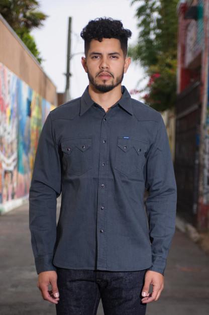 Iron Heart Sawtooth Denim Shirt - 8.5oz Graycast