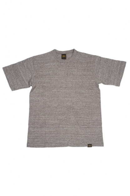 Iron Heart 6.5oz Heavy Loopwheeled T-Shirt - Light Gray