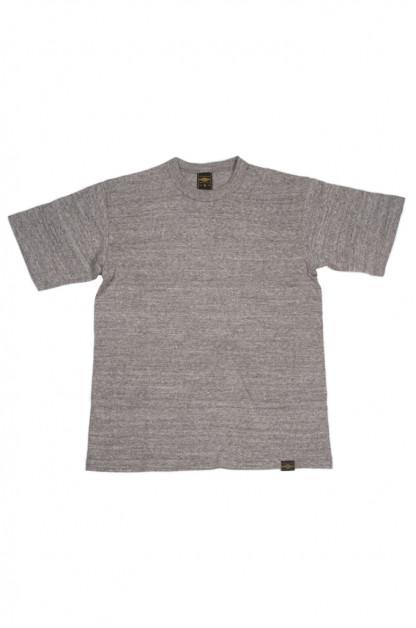 Iron Heart 6.5oz Heavy Loopwheeled T-Shirt - Light Gray