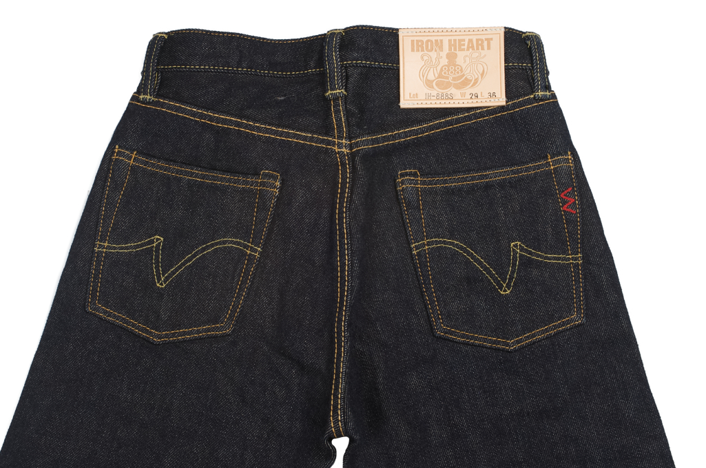 Iron Heart 888s 21oz Denim Jean - High Rise Straight Tapered - Image 5