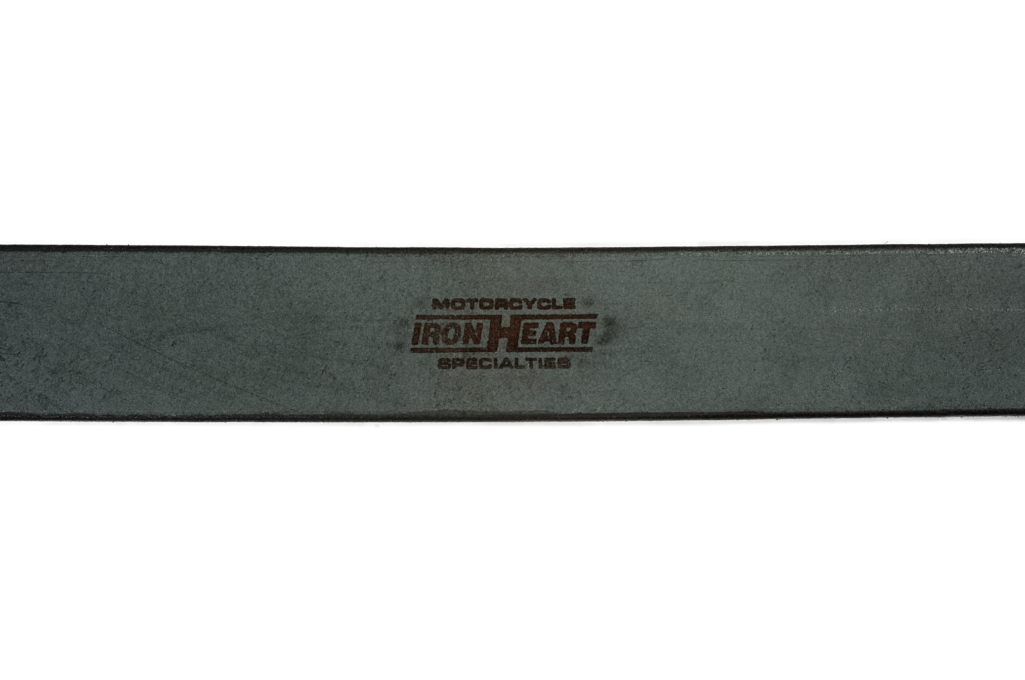 Iron Heart Heavy Duty Cowhide Belt - Brass/Black - Image 3