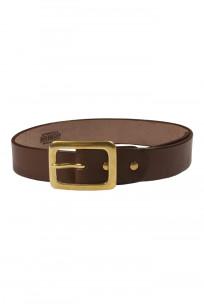 Iron Heart Heavy Duty Cowhide Belt - Brass/Brown - Image 0