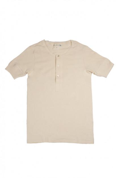 Merz b. Schwanen 2-Thread Heavy Weight T-Shirt - Henley Natural