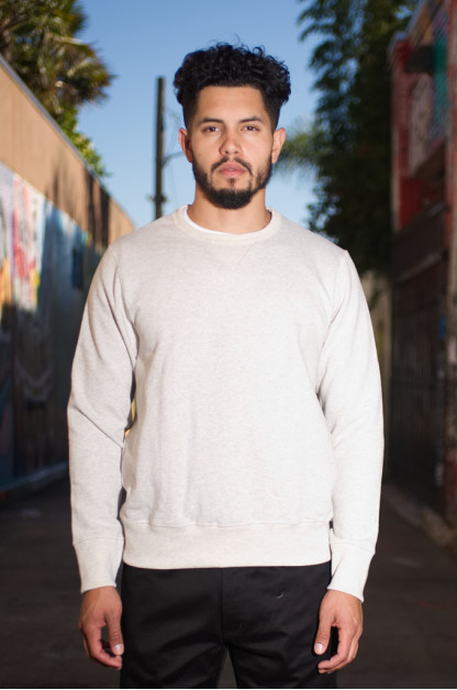 Merz b. Schwanen Heavy Weight Crewneck Sweater - Natural