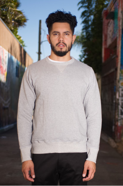 Merz b. Schwanen Heavy Weight Crewneck Sweater - Gray