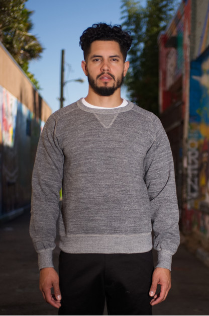 Stevenson Loopwheeled Extra Long Staple Cotton Sweatshirt - Gray