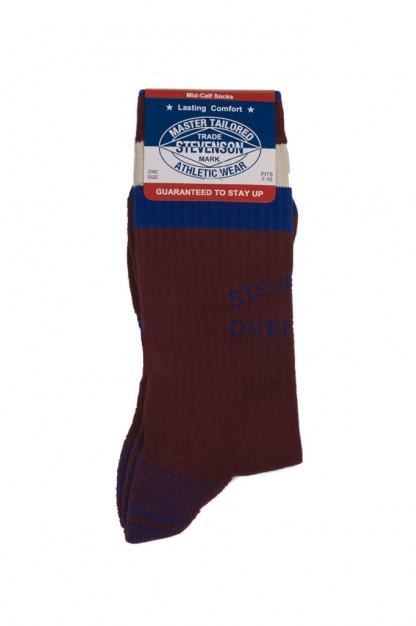 Stevenson Branded Solid Socks - Burgundy