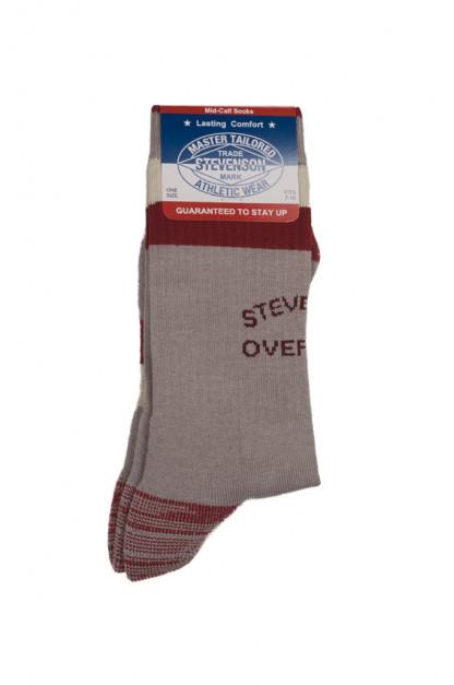 Stevenson Branded Solid Socks - Gray