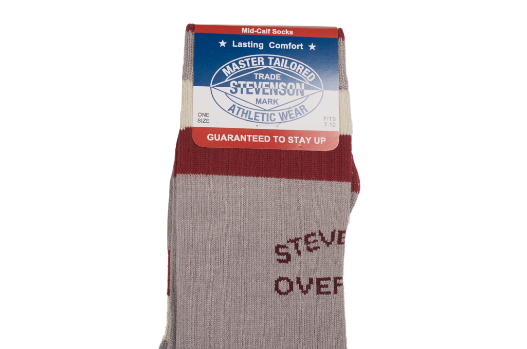 Stevenson Branded Solid Socks - Gray - Image 1