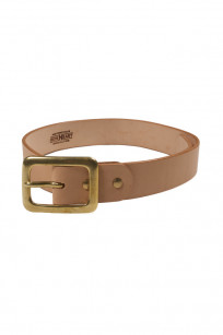 Iron Heart Heavy Duty Cowhide Belt - Brass/Tan - Image 0